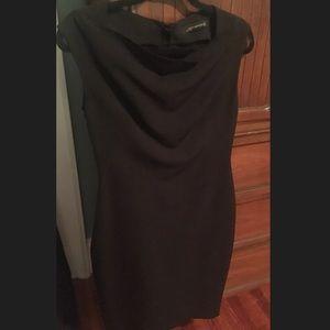 Black Midi Stretchy Cocktail Dress